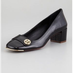 Tory Burch Marion Patent Leather Block Heel Pump